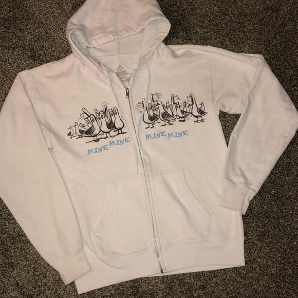 "9238e416da96c DISNEY FINDING NEMO ""MINE MINE"" hoodie sweatshirt.  M 5b81ce06129955ba3634559b"